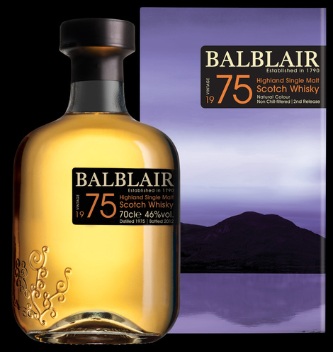 Balblair 1975 (Second Release, Bottled 2012), Highland Single Malt Scotch Whisky
