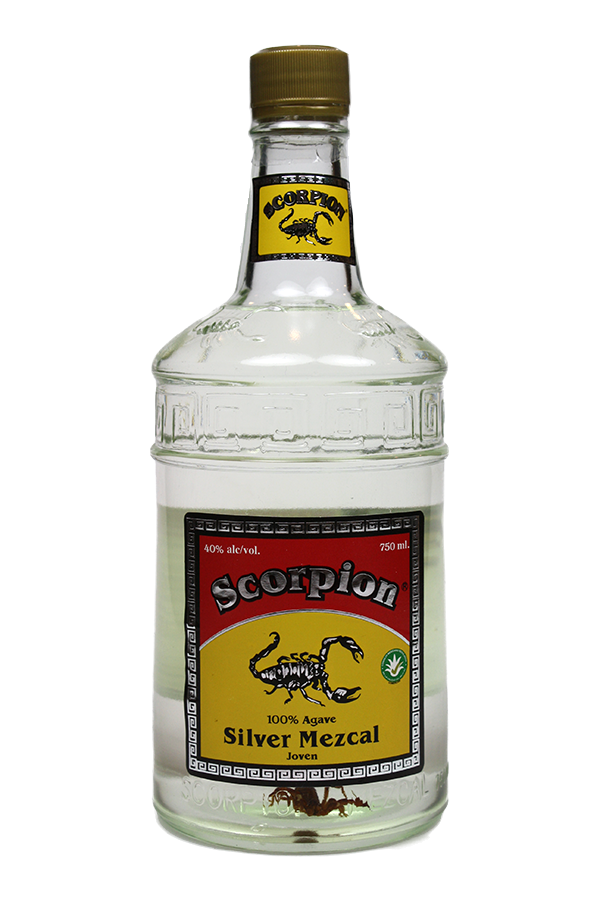 Scorpion Silver Mezcal Joven  Tequila, 100% Agave.