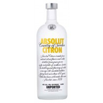 Absolut Citron, Imported Vodka 1L