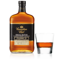 Canadian Club Classic Whisky Aged 12 Years.