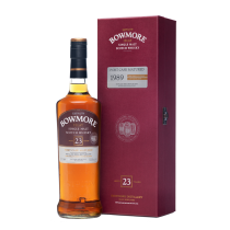 Bowmore Aged 23 Years, Port Cask Matured Ditilled 1989, Islay Single Malt Scotch Whisky